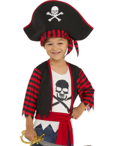 Little Pirate Captain Boys Buccaneer Cross Bone Child Halloween Costume
