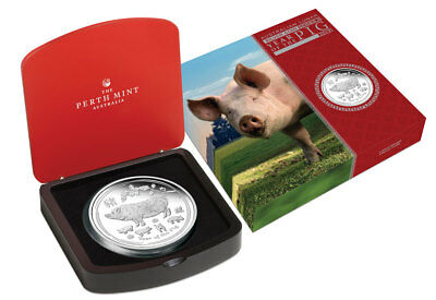2019-p Australia Year Of The Pig 1 Kilo Silver Lunar S2 $30 Gem Proof Sku55143 Vivid And Great In Style
