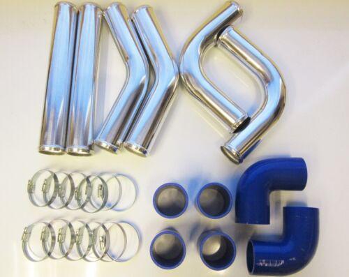"""Custom Pipe 50mm 2/"""" Universal Intercooler Pipework Kit FMIC BLUE HOSES DIY"""