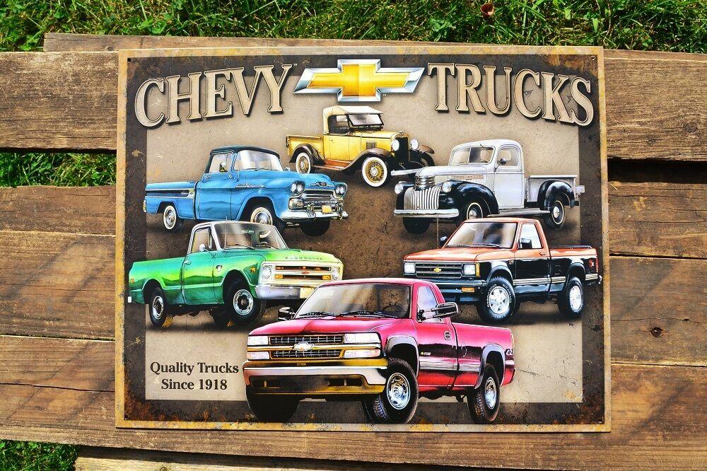 Chevrolet Truck Chevy Trucks Tin Metal Sign 3100 Since 1918 Silverado