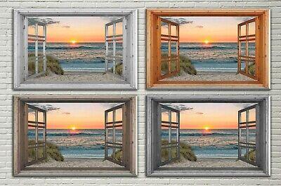 LeinwandBild Bild Wandbild Düne Dünenweg Nordsee Meer Strand Wasser Sand Ferne