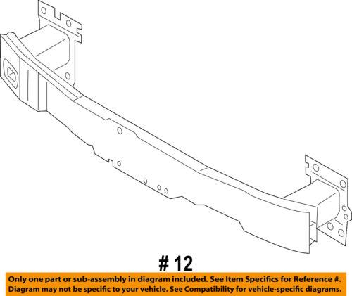 AUDI OEM Front Bumper Grille-Impact Reinforcement Bar Rebar 8V4807109D