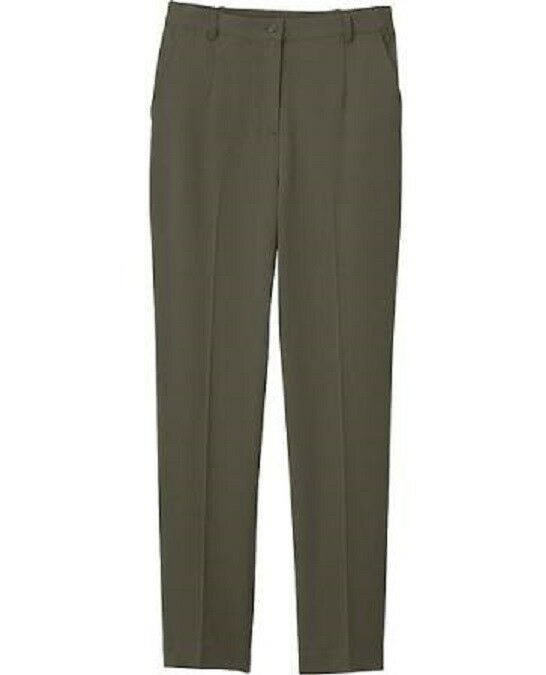 APPLESEED'S Bi-Stretch Fly-Front Pants OLIVE SIZE 14