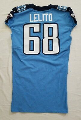 #68 Tim Lelito of Tennessee Titans NFL Locker Room Game Issued Jersey   eBay