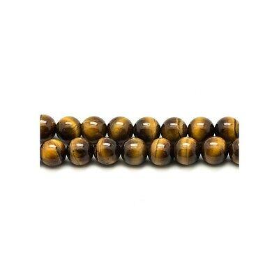 Perles de Pierre Oeil de Taureau Boules 4mm Fil de 39 cm