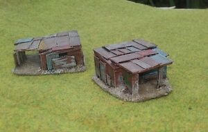 New! 2 x 15mm Shantys    Wargaming Terrain AK47 District 9 Sci-fi