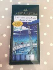 Faber-Castell Pitt Artist Pen Brush Shades Of Blue