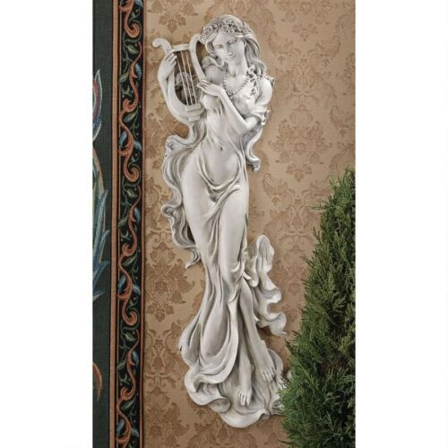 Greek Mythological Muse Of Music Euterpe Wall Sculpture Giver of Delight Statue