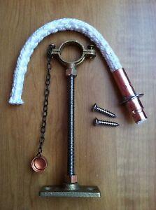 Cotton or Fiberglass Wick holder Brown Tiki Torch Wine Bottle hanging kit