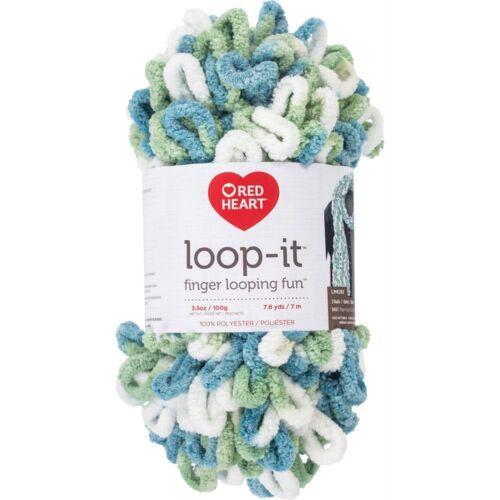 Red Heart Yarn Loop-it-blue-per