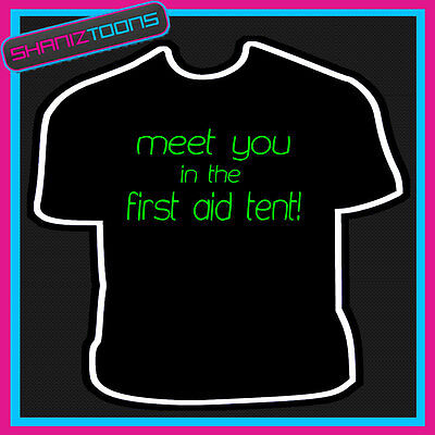 DRUM AND BASS TENT MUSIC MENS FESTIVAL ADULTS T SHIRT