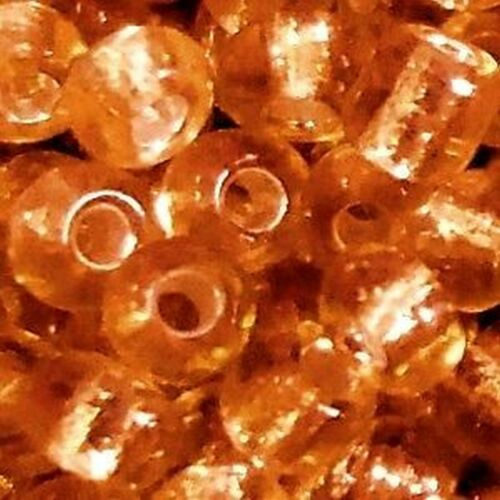 100g Orange Silver Lined Glass Seed Beads B0328-11//0