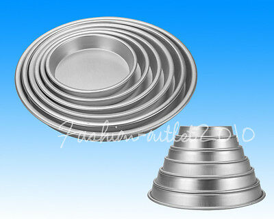 6 Sizes Round Deep Dish Pizza Plate Pan Tins Wedding Cake Decorating Tools Mould