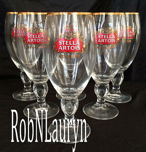 Stella-Artois-Chalice-40CL-Set-Of-6-Six-Glasses-Beer-Pub-Bar-Pint-BEST-QUALITY