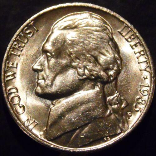 1985-P Jefferson Nickel Gem BU Full Steps Full Step