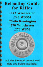 Reloading Book Manual Guide 243 25-06 270 Winchester WSM Rifles from Gun-Guides