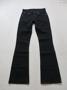 Levi-039-s-529-Bootcut-Jeans-Hose-W-28-L-34-schwarz-Black-Stretch-Denim-RAR