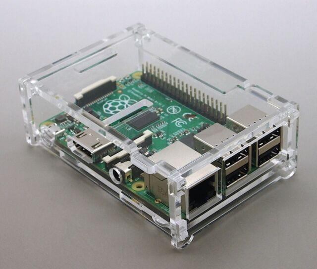 transparentes Acryl Gehäuse für Raspberry Pi B+ Plus mit klappbarem Deckel