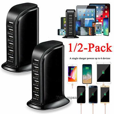 ACUVAR 6 Port USB Desktop Rapid Travel Charger Station