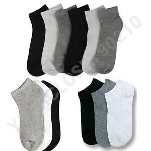Hommes Femmes 9-11 10-13 Soft Cheville Coupé Sport Chaussettes Lot Blanc Gris Noir Unisexe-afficher Le Titre D'origine MatéRiau SéLectionné