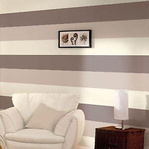 Papier-Peint-Rayure-3-Couleur-Raye-Texture-Designer-Vinyle-Chocolat-Cafe-Creme