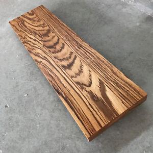 Waschbecken-Tischplatte-Platte-Zebrano-Massiv-Holz-ohne-Baumkante-NEU-Leimholz