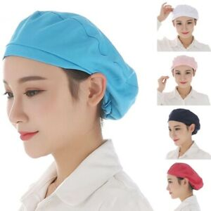 Unisex Various Chef Hat Cotton Cook Cap Beret Work Kitchen Catering Staff Cap