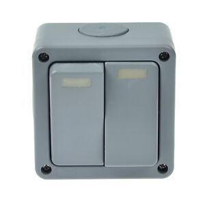 Waterproof IP66 Outdoor Garden Weatherproof 2 Gang 10A Dual Wall ...