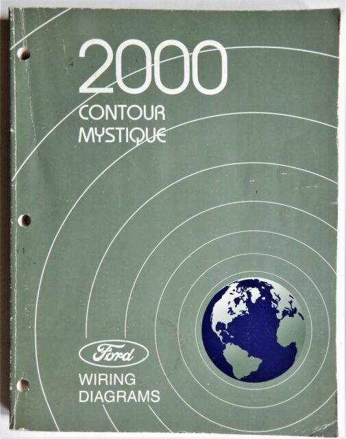 2000 Ford Contour Mercury Mystique Electrical Wiring Diagrams Service Manual