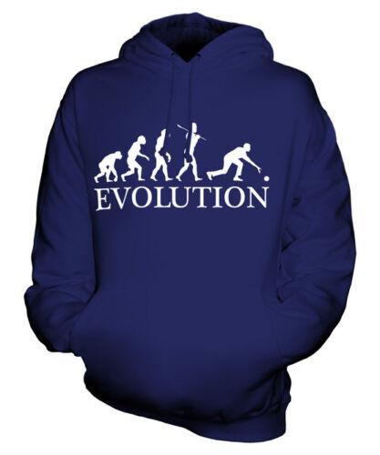 BOWLS EVOLUTION OF MAN UNISEX HOODIE MENS WOMENS LADIES GIFT CROWN GREEN