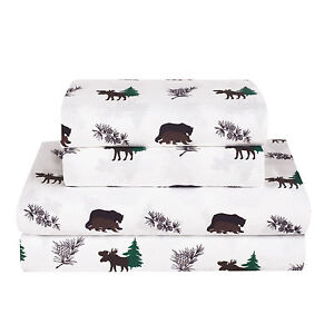 d628c63098a68 Image is loading Twin-Full-Queen-King-Rustic-Bear-Moose-Bed-
