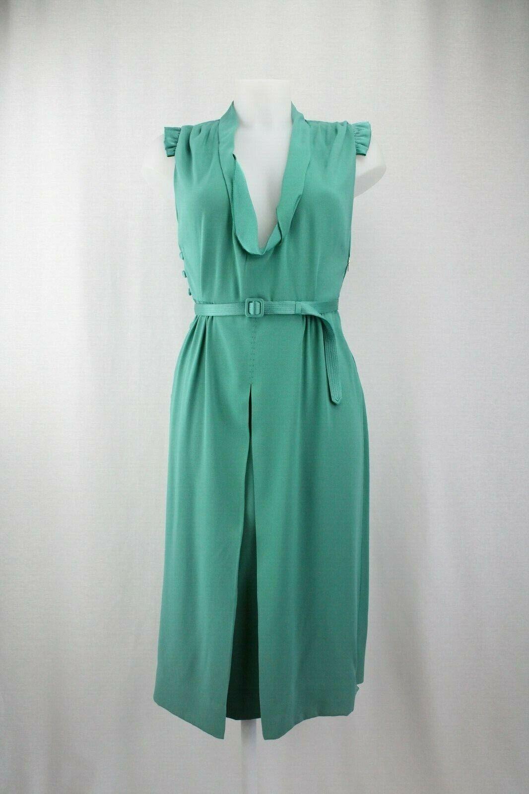 Marc Jacobs For Bergdorf Goodman Türkis Kleid mit Gürtel, Größe  UK 10   Eu 38