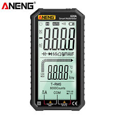 Aneng 620a Lcd Digital Multimeter Trms 6000 Counts Auto Range Ncv Tester J1w8