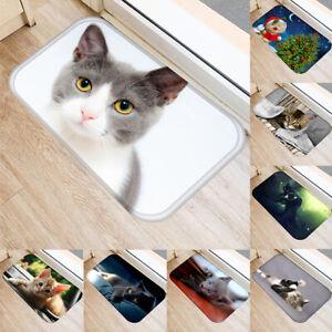 Cg-FT-KF-Cute-Cat-Xmas-Soft-Home-Anti-Slip-Door-Mat-Entrance-Rug-Bathroom-Car