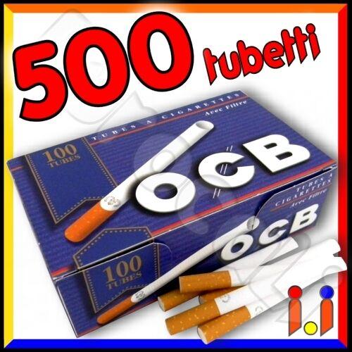 500 tubetti OCB con filtro SIGARETTE VUOTE