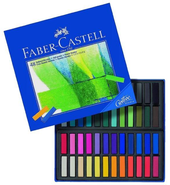 FABER-CASTELL - ARTISTS CHALK / SOFT PASTELS - 48 SET - FREE UK POSTAGE