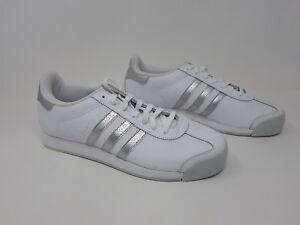 New! Men s Adidas Originals Samoa Shoes White Silver SZ 10 AQ7906 ... 455417bc4
