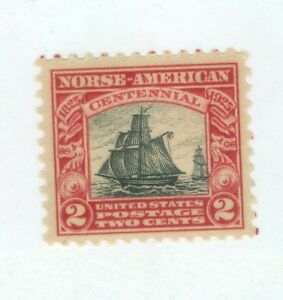 US-620-NORSE-AMERICAN-ISSUE-M-N-H-2-cent-ISSUED-1925