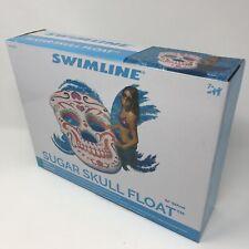 Swimline Giant Inflatable 62-Inch Sugar Skull Swimming Pool Island Raft90555