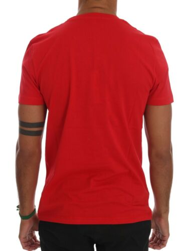 M NEW $110 FRANKIE MORELLO T-shirt Red Cotton RIDERS Crewneck Short Sleeve s
