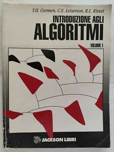 BOOK INTRODUZIONE AGLI ALGORITMI JACKSON CORMEN LEISERSON RIVEST 8825604491