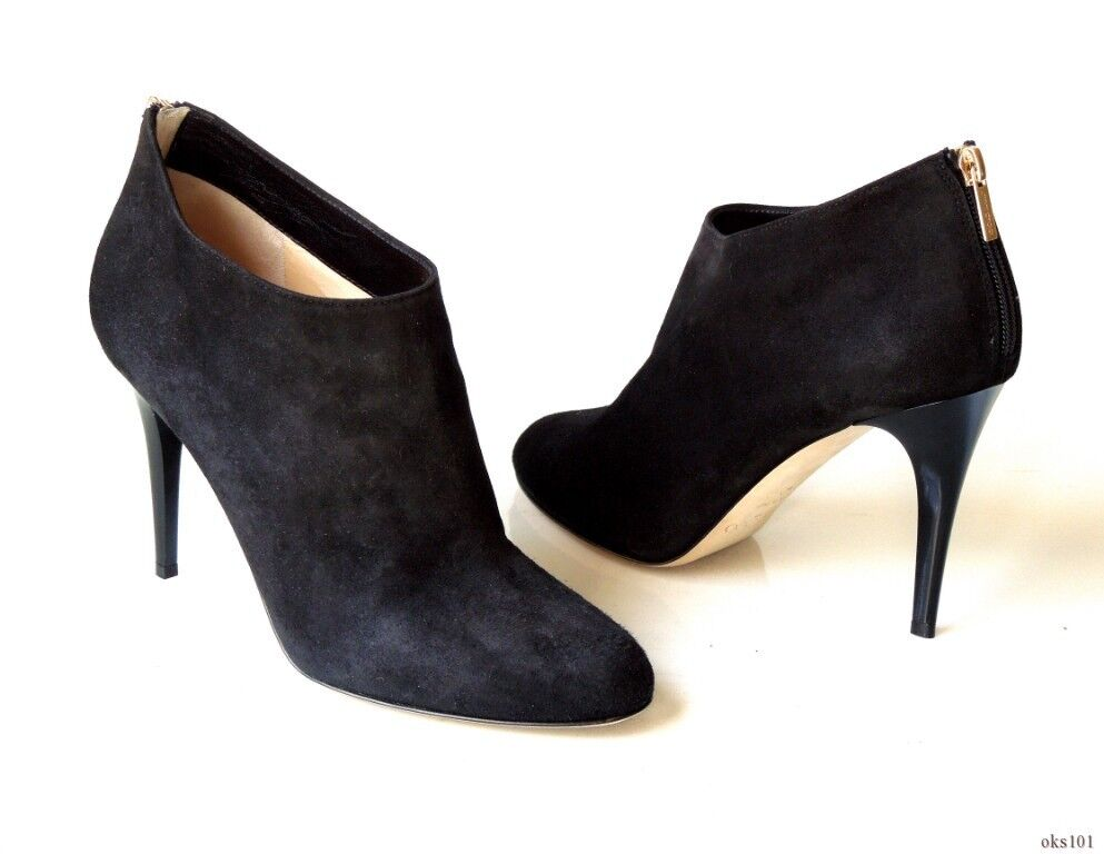 Nuevo  895 Jimmy Choo 'Méndez' 'Méndez' Choo Negro Gamuza botas al Tobillo-Muy Elegante b40e55