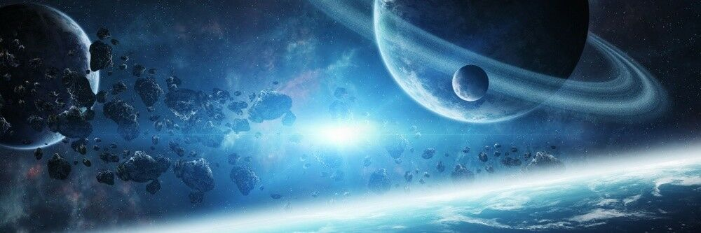Espacio exterior Planet all galaxia XXL panorama murales imagen póster pegatinas w0090