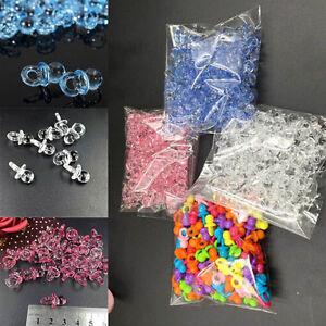50stk-Mini-Acryl-Schnuller-Dekoration-Tischdeko-Baby-Dusche-beguenstigt-Mehrfarbi