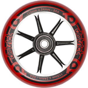 District-W-S-Series-Wheels-2PK-110-mm-Red-Black-Black