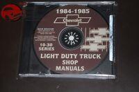 1984-85 Chevy Light Duty Pickup Truck Shop Manuals Cd Rom C 10 20 30 Blazer Pdf