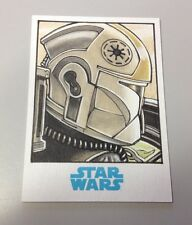 Star Wars Journey to the Force Awakens Topps Trooper Sketch Card2 Mikey Babinski
