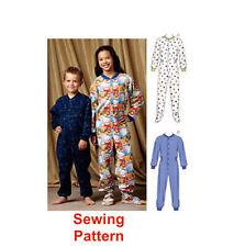 Kwik Sew K3714 Pattern Boys/Girls Pajamas XS(4-5)-XL(12-14) BN