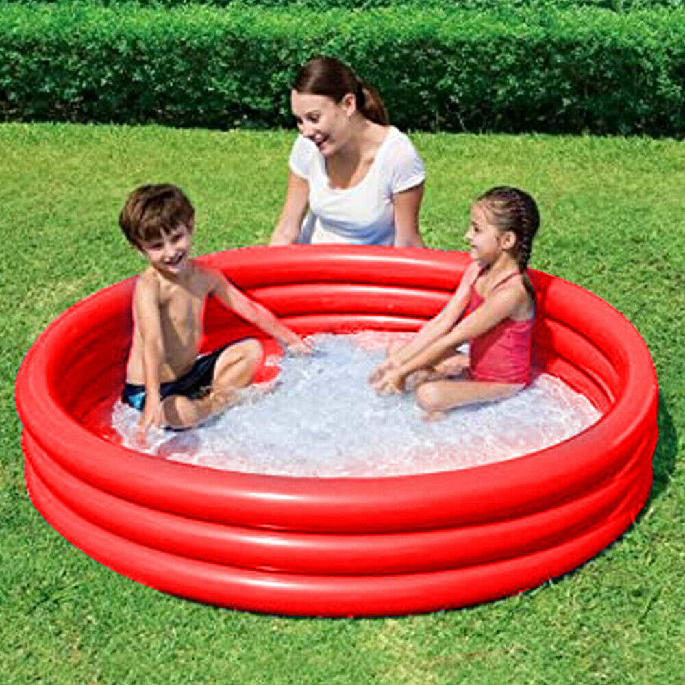 Inflatable Garden Summer Paddling Pools Pool Water Kids Fun Primary Colors