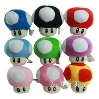 9 pcs Super Mario Bros Plush Doll Soft Figure Mushroom 2.5""